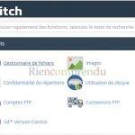gestionnaire de fichiers o2switch
