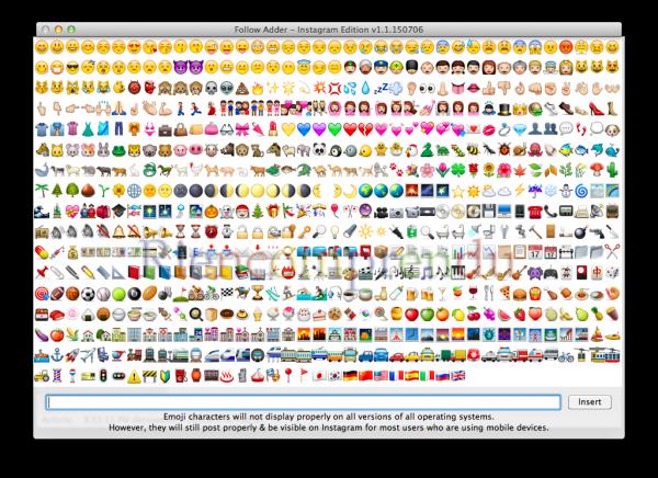 Choisissez un Emoji à partager avec vos photos!