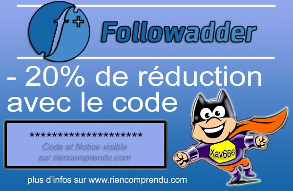 code promo followadder