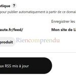 publication automatique du flux rss